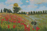 Poppies at Argenteuil Cross Stitch Chart - Claude Monet