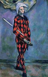 Harlequin Cross Stitch Pattern - Paul Cézanne