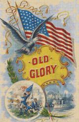 Old Glory Cross Stitch Pattern