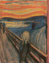 The Scream! Cross Stitch Pattern - Edvard Munch