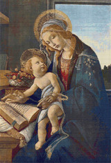 Madonna with the Child Cross Stitch Pattern - Sandro Botticelli