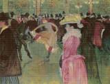 Dance at the Moulin Rouge Cross Stitch Pattern - Henri de Toulouse-Lautrec