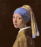 Girl with a Pearl Earring Cross Stitch Pattern - Johannes Vermeer