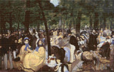 Music in the Tuileries Cross Stitch Chart - Edouard Manet