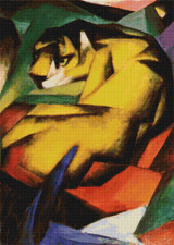 Tiger Cross Stitch Chart - Franz Marc