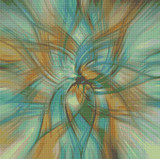 Abstract Flower - 1 Cross Stitch Pattern