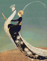 Vogue Magazine Cover - April 1, 1918 Cross Stitch Pattern