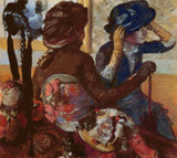 At the Milliners Cross Stitch Pattern - Edgar Degas