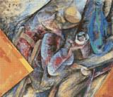The Drinker (study) Cross Stitch Pattern - Umberto Boccioni