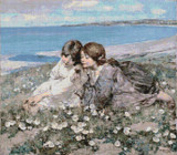 Seashore Roses Cross Stitch Pattern - Edward Atkinson Hornel