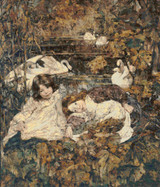 Autumn Cross Stitch Pattern - Edward Atkinson Hornel