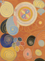 The Ten Largest, No. 3, Youth, Group IV Cross Stitch Pattern - Hilma af Klint