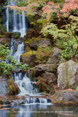 Koi Pond Waterfall I Cross Stitch Pattern - John Mejia