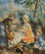 The Apple Seller Cross Stitch Chart - Pierre-Auguste Renoir
