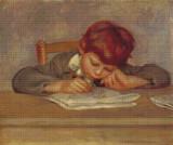 Jean Drawing Cross Stitch Pattern - Pierre-Auguste Renoir