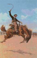 The Bronco Buster Cross Stitch Pattern - Frederic Remington