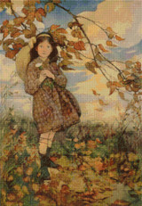 Summer's Passing Cross Stitch Pattern - Jessie Willcox Smith