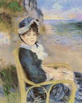 By the Seashore Cross Stitch Pattern - Pierre-Auguste Renoir