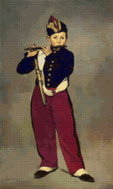 The Fifer Cross Stitch Chart - Edouard Manet