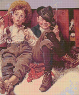 But Wait til Next Week Cross Stitch Pattern -  Norman Rockwell