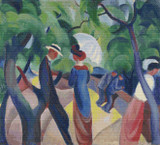 Promenade Cross Stitch Pattern - Auguste Macke