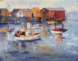 Boats at Harbor Cross Stitch Pattern - August Gay