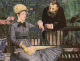 In the Conservatory Cross Stitch Chart - Edouard Manet