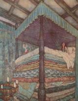 The Princess and the Pea Cross Stitch Pattern - Edmund Dulac