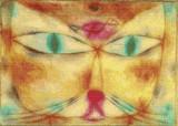 Cat and Bird Cross Stitch Pattern - Paul Klee