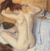 Woman Combing Her Hair Cross Stitch Chart - Edgar Degas