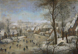 Winter Landscape with a Bird-trap Cross Stitch Pattern - Pieter Brueghel the Younger