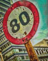 Speed Limit 80 Cross Stitch Pattern - Ed Bolt