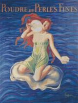 Poudre de Perles Fines Cross Stitch Pattern - Leonetto Cappiello