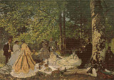 Luncheon on the Grass Cross Stitch Pattern - Claude Monet