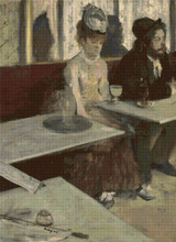 L'Absinthe Cross Stitch Chart - Edgar Degas