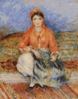 Algerian Girl Cross Stitch Pattern - Pierre-Auguste Renoir