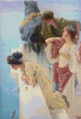 A Coign of Vantage Cross Stitch Pattern - Sir Lawrence Alma-Tadema