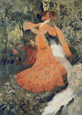 Elegante Près d'une Source Cross Stitch Pattern - Georges de Feur