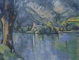 The Lake at Annecy Cross Stitch Chart - Paul Cezanne