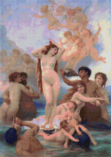 Birth of Venus Cross Stitch Pattern - William Bouguereau