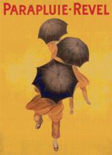 Parapluie-Revel Cross Stitch Pattern - Leonetto Cappiello