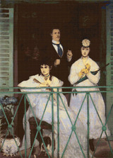 The Balcony Cross Stitch Chart - Edouard Manet