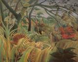 Surprise! Tiger in a Tropical Storm Cross Stitch Pattern - Henri Rousseau