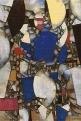 Woman in Blue Cross Stitch Pattern - Fernand Léger