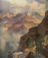 A Bit of the Grand Canyon Cross Stitch Pattern - Thomas Moran