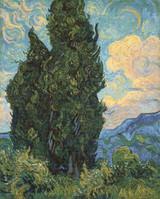 Cypresses Cross Stitch Pattern - Vincent van Gogh