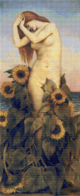 Clytie Cross Stitch Chart - Evelyn de Morgan