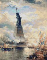 Unveiling the Statue of Liberty Cross Stitch Pattern - Edward Moran