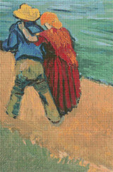Two Lovers, Arles Cross Stitch Pattern - Vincent van Gogh