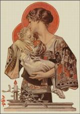 Modern Madonna and Child Cross Stitch Pattern - JC Leyendecker